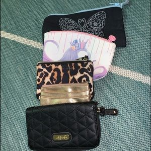 Various wallet lot.